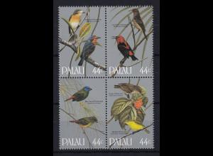 Palau 1986 Mi.-Nr. 101-104 postfrisch **/ MNH Singvögel