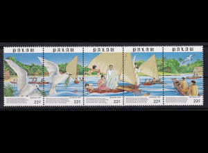 Palau 1987 Mi.-Nr. 211-215 postfrisch **/ MNH Illustration zu Weihnachtslied