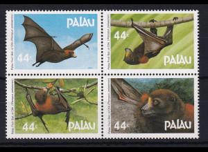 Palau 1987 Mi.-Nr. 172-175 postfrisch **/ MNH Palau-Flughund