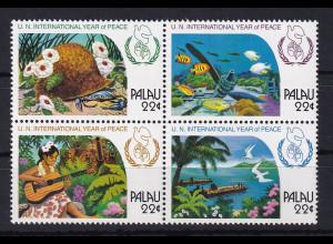 Palau 1986 Mi.-Nr. 154-157 postfrisch **/ MNH Jahr des Friedens, Kriegsüberreste