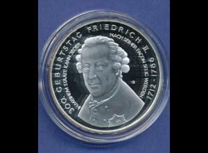 10-€-Gedenkmünze PP, Friedrich II. von Preußen, Polierte Platte, Spiegelglanz