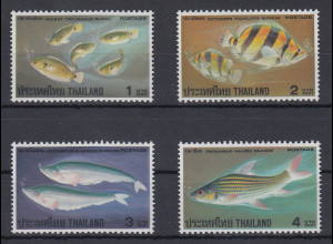 Thailand 1978 Fische Mi.-Nr. 871-874 ** / MNH