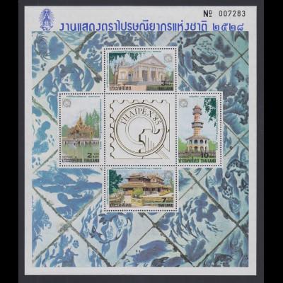 Thailand 1985 Thaipex Mi.-Nr. Block 14A ** / MNH