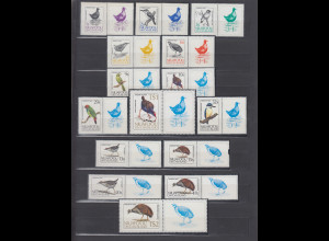 Niuafo'ou 1983 Freimarken selbstklebend Mi.-Nr. 27-41** / MNH Vögel