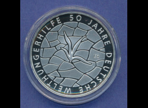 10-€-Gedenkmünze PP, Deutsche Welthungerhilfe, Polierte Platte, Spiegelglanz