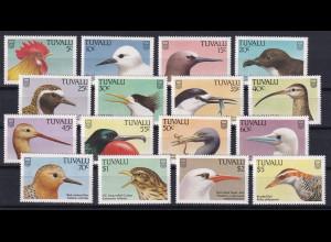 Tuvalu 1988 Mi.-Nr. 489-504 Satz kpl. postfrisch **/ MNH Freimarken: Vögel