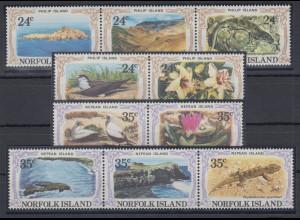 Norfolk Island 1982 Mi.-Nr. 276-85 Satz postfrisch **/ MNH Philip-/ Nepean Insel