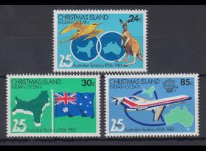 Christmas Island 1983 Mi.-Nr. 177-79 Satz postfrisch **/ MNH australische Zugeh.
