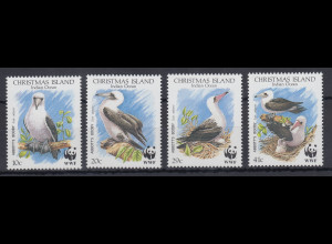 Christmas Island 1990 Mi.-Nr. 303-06 postfrisch **/ MNH Abbottstölpel