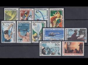 Australische Antarktis 1966 Mi.-Nr. 8-18 postfrisch **/ MNH Forschung Antarktis