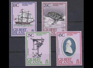 Kiribati/ Gilbert 1979 Mi.-Nr. 318-21 postfrisch **/ MNH Entdeckungen James Cook
