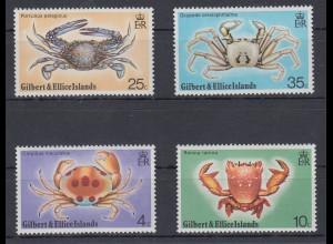 Gilbert- Ellice Inseln 1975 Mi.-Nr. 232-35 Satz postfrisch **/ MNH Krabben