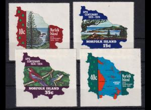 Norfolk Island 1974 selbstklebende Mi.-Nr. 160-163 Satz postfrisch **/ MNH