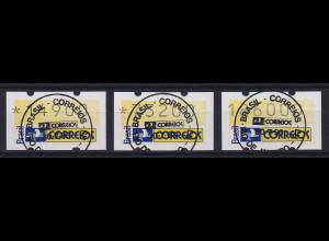 Brasilien 1993 ATM Postemblem Satz 14900-73200-186000 mit Ersttags-So-O 30.7.93