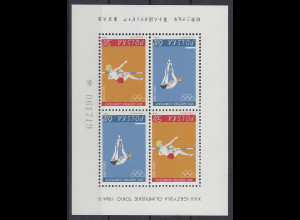 Polen / Polska 1964 Olympische Sommerspiele, Tokio Mi.-Nr. Block 34 **