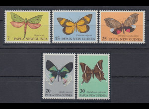 Papua Neu Guinea 1979 Nachtfalter Satz Mi.-Nr. 372-76 **