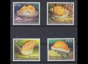 Papua Neu Guinea 1986 Meeresschnecken Satz Mi.-Nr. 516-19 **