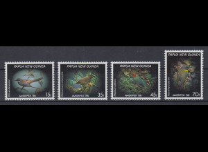 Papua Neu Guinea 1986 Kleinvögel Satz Mi.-Nr. 525-28 **