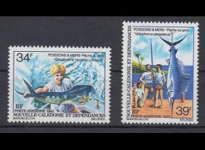 Neukaledonien 1980 Hochseeangeln Satz Mi.-Nr. 644-45 **