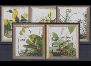 Niue 1985 200. Geburtstag John James Audubon Mi.-Nr. Block 84-88 **