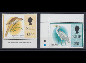 Niue 1993 Freimarken: Vögel Mi.-Nr. 832-33 **