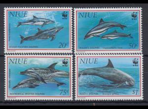 Niue 1993 WWF: Delphine Mi.-Nr. 822-25 **