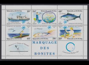 Wallis et Futuna 1979 Fischerei Mi.-Nr. Block 2 **