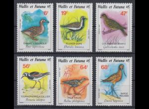 Wallis et Futuna 1987 Vögel Satz Mi.-Nr. 540-45 **