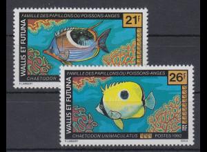 Wallis et Futuna 1992 Gaukler und Engelfische Mi.-Nr. 617-18 **