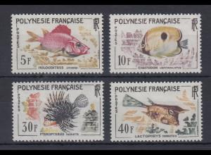 Französisch-Polynesien 1962 Freimarken: Fische Satz Mi.-Nr. 24-27 **