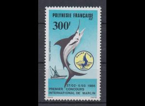 Französisch-Polynesien 1986 Marlin-Sportfischen, Tahiti Mi.-Nr. 448 **