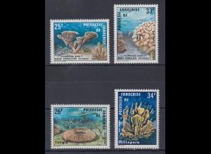 Französisch-Polynesien 1977 Korallen Mi.-Nr. 235-36, 256-57 **