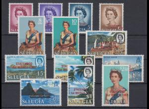 Saint Lucia Satz Mi.-Nr. 204-16 ** / MNH Inselmotive