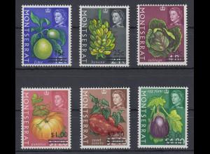 Montserrat Mi.-Nr. 192-97 postfrisch ** / MNH Inselfrüchte und -gemüse