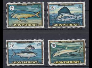 Montserrat Mi.-Nr. 219-22 postfrisch ** / MNH Fische