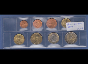 Griechenland EURO-Kursmünzensatz Jahrgang 2005 bankfrisch / unzirkuliert