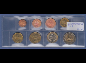 Griechenland EURO-Kursmünzensatz Jahrgang 2008 bankfrisch / unzirkuliert