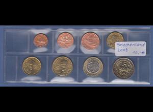 Griechenland EURO-Kursmünzensatz Jahrgang 2009 bankfrisch / unzirkuliert