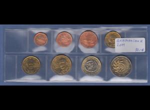 Griechenland EURO-Kursmünzensatz Jahrgang 2011 bankfrisch / unzirkuliert