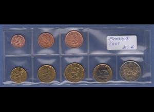 Finnland EURO-Kursmünzensatz Jahrgang 2001 bankfrisch / unzirkuliert