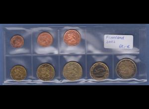 Finnland EURO-Kursmünzensatz Jahrgang 2002 bankfrisch / unzirkuliert