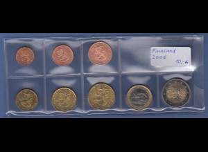 Finnland EURO-Kursmünzensatz Jahrgang 2006 bankfrisch / unzirkuliert