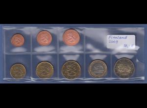 Finnland EURO-Kursmünzensatz Jahrgang 2009 bankfrisch / unzirkuliert