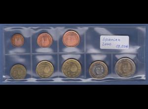 Spanien EURO-Kursmünzensatz Jahrgang 2000 bankfrisch / unzirkuliert