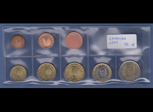 Spanien EURO-Kursmünzensatz Jahrgang 2001 bankfrisch / unzirkuliert
