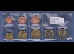 Spanien EURO-Kursmünzensatz Jahrgang 2002 bankfrisch / unzirkuliert