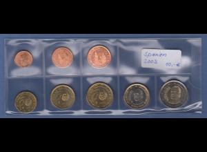 Spanien EURO-Kursmünzensatz Jahrgang 2003 bankfrisch / unzirkuliert