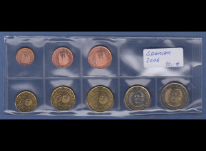 Spanien EURO-Kursmünzensatz Jahrgang 2006 bankfrisch / unzirkuliert
