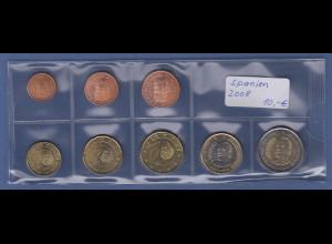 Spanien EURO-Kursmünzensatz Jahrgang 2008 bankfrisch / unzirkuliert