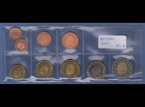 Belgien EURO-Kursmünzensatz Jahrgang 2001 bankfrisch / unzirkuliert